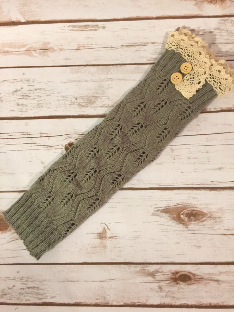 Cute and Cozy Leg Warmers - Gray