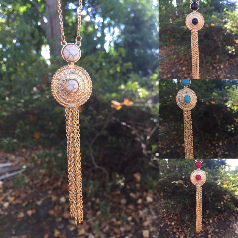 Going Going Gong Necklace (Multiple Colors)