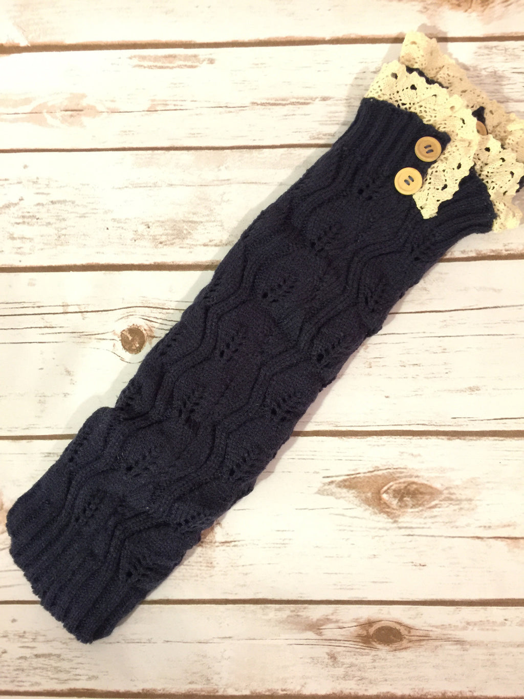 Cute and Cozy Leg Warmers- Navy