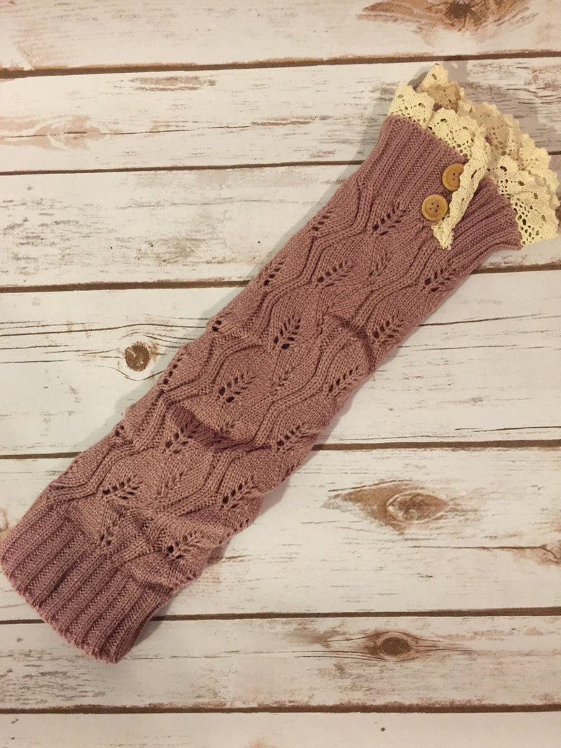 Cute and Cozy Leg Warmers- Dusty Rose