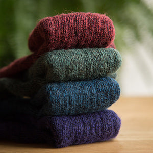 Warm Alpaca Wool Color Socks