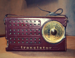 vintage transmitter, modern portable, hifi mc, micro-music-system, bluetooth speaker, 8 track player
