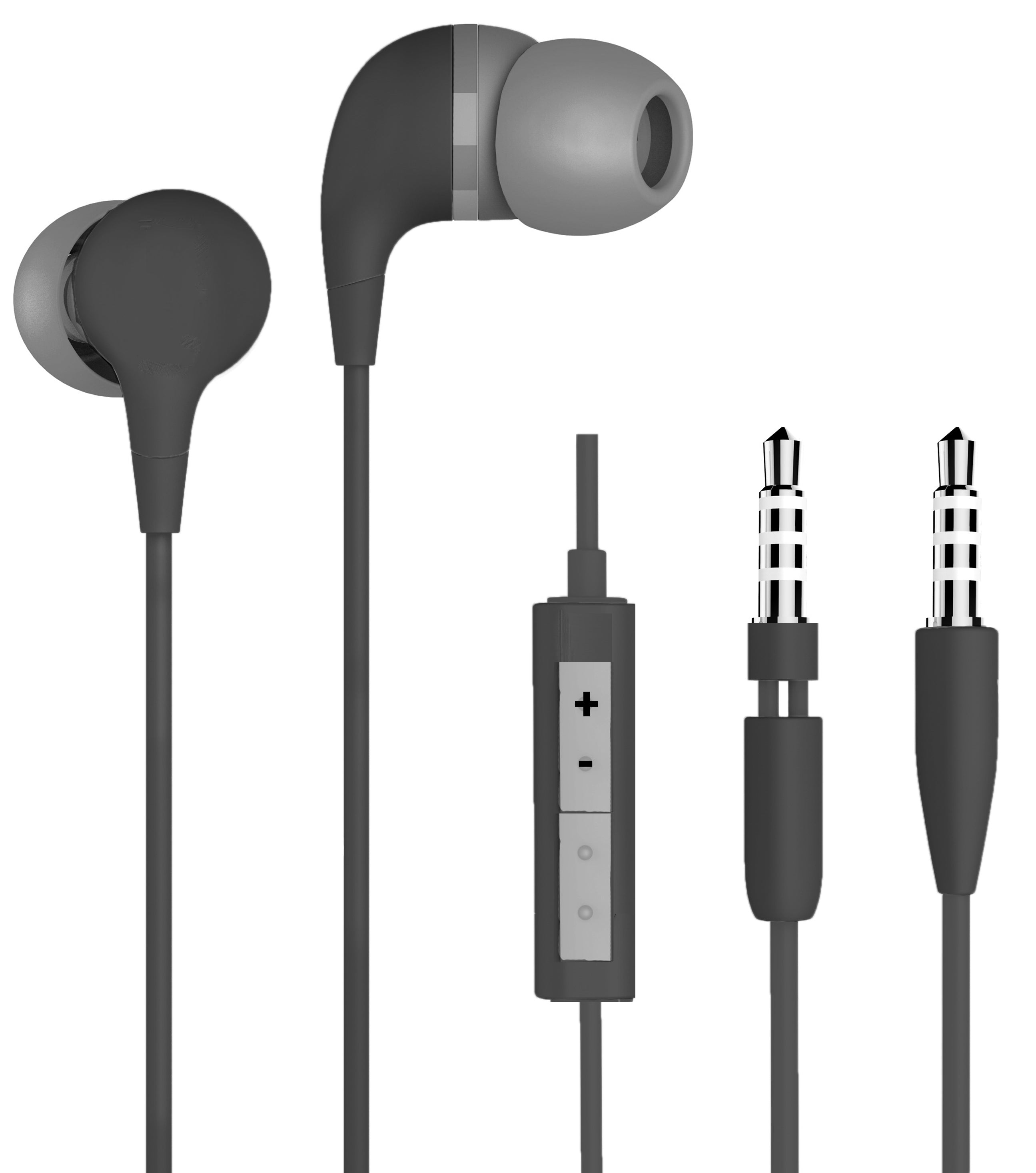66e9bdec28d [FLASH SALE PRICE - $8.99] - NEW - [V3] Basic Premium Wired Earbuds with  Microphone For Hands Free Phone Calls & Volume Control Cable - Simple In-Ear  ...