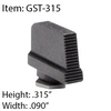 Glock Steel Thin Serrated Fronts
