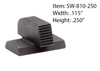 Smith & Wesson Serrated Fronts