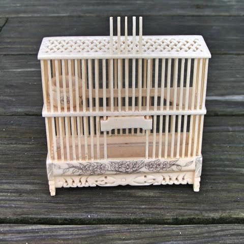 Cricket Box: Large Bone Cage
