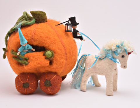 Unicorn Pulled Pumpkin Coach