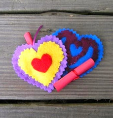 Cut-Work Felt Love Notes
