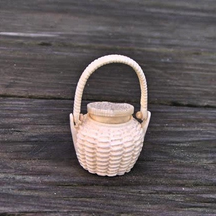 Carved Bone Basket