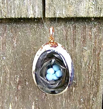 Quail Egg Miniture in Glass