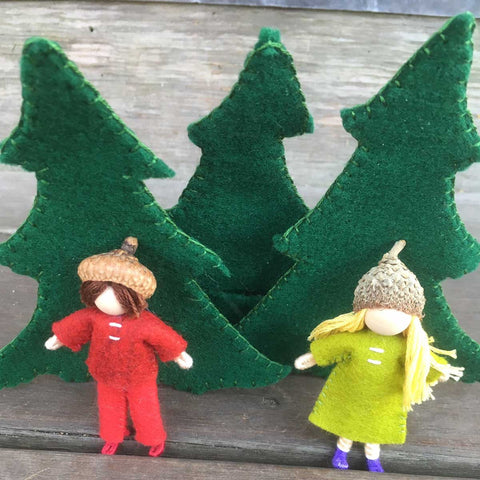 Holiday Littles in Evergreen Trees