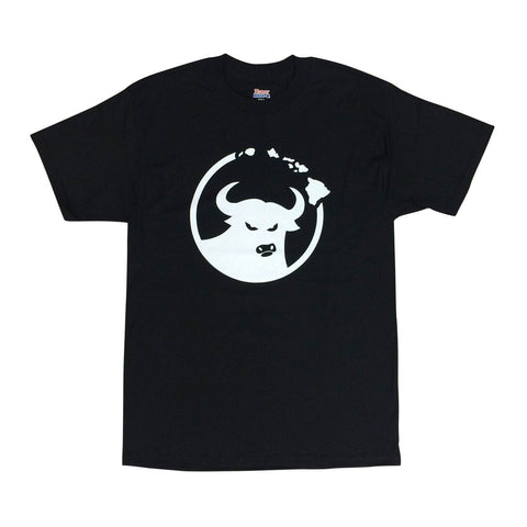 662 Hawaiian Islands Bull Black/White T-Shirt