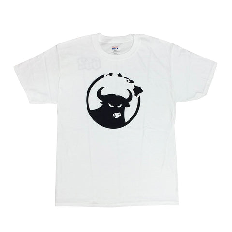 662 Hawaiian Islands Bull White/Black T-Shirt