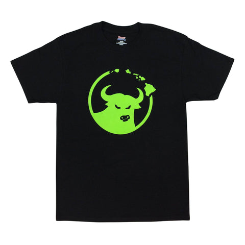 662 Hawaiian Islands Bull Black/Green T-Shirt
