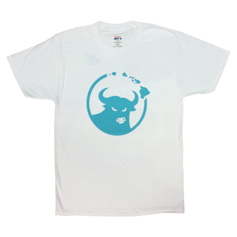 662 Hawaiian Islands Bull White/Seafoam T-Shirt