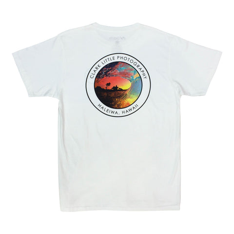 "Clark Little ""Rainbow Shave Ice"" T-Shirt WHT"