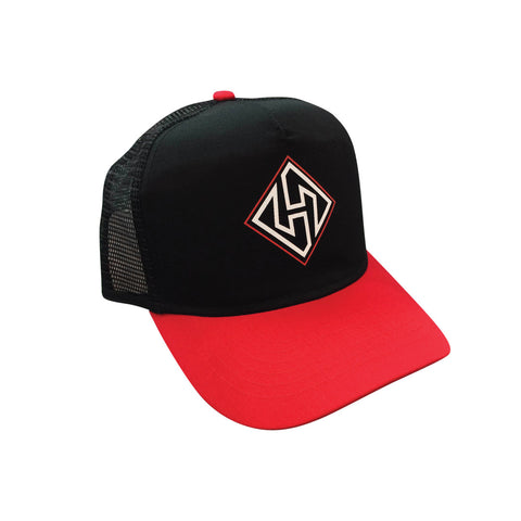 Hubboards Black/Red Trucker Hat