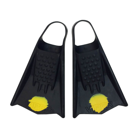 MS Viper Surfing Fins Yellow Dots