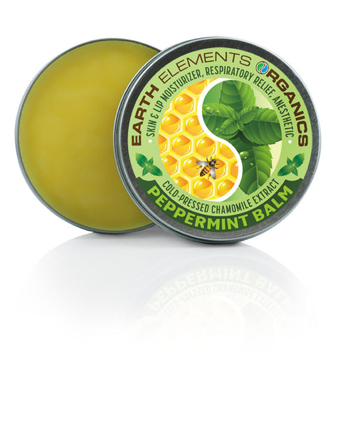 Peppermint balm 80 organic relieves nausea respiratory for Earth elements organics