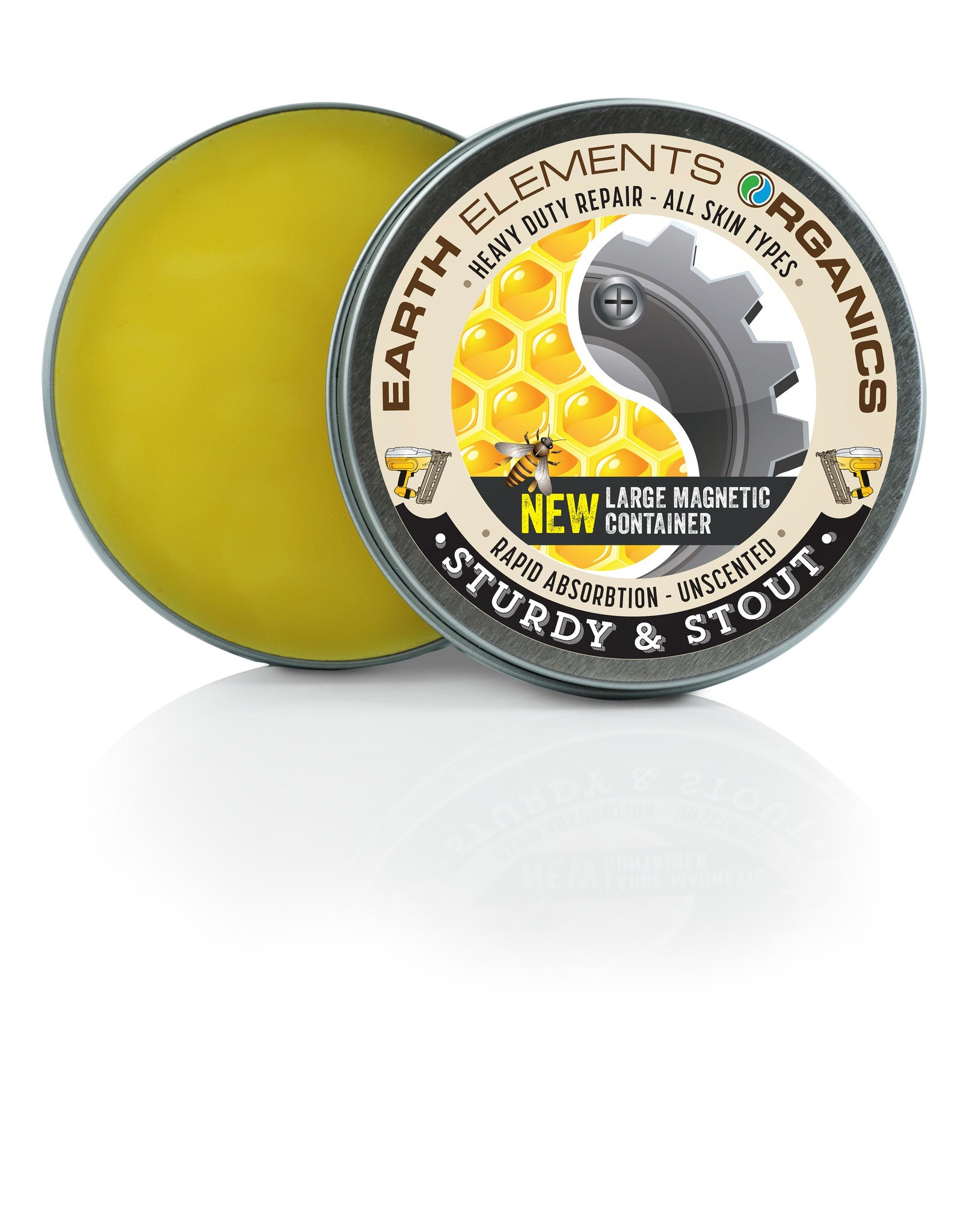 Sturdy stout balm 75 organic magnetic soothing for Earth elements organics