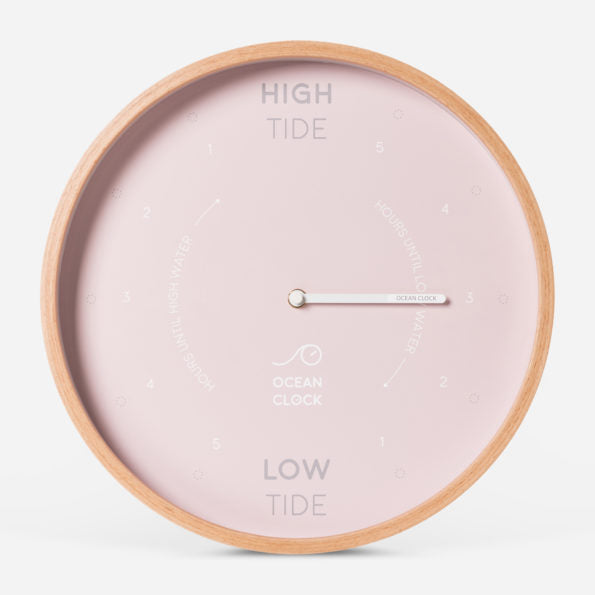 Ocean Clock - Tide Clock / Horloge des marées - Pink Shell (English)