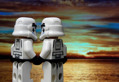 This picture of LEGO stormtroopers holding hands amused me.