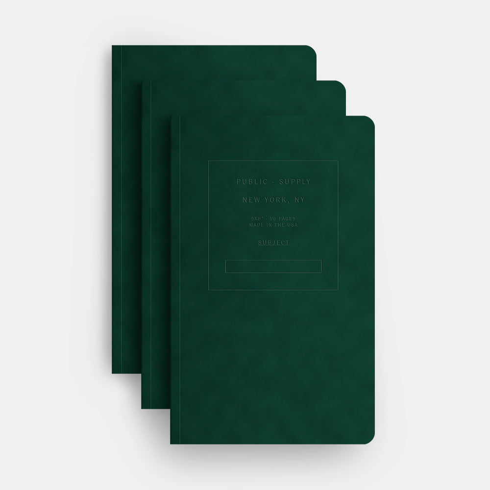 Forest velvet notebook