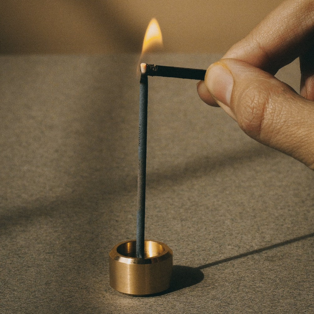 Mini Brass Incense Holder