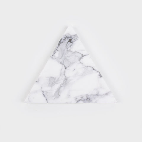 White Triangle Stone Trivet