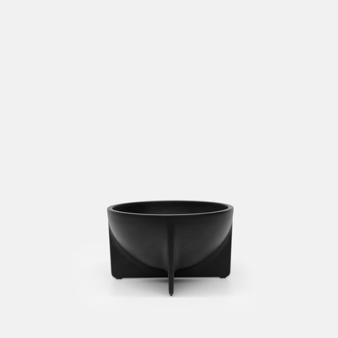 Small Standing Bowl in Black