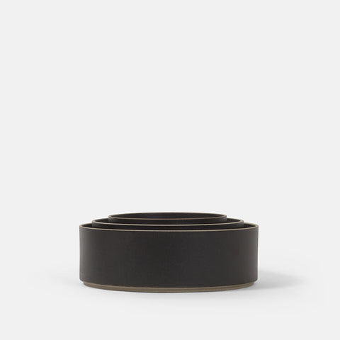 Tall Cylinder Black Bowl