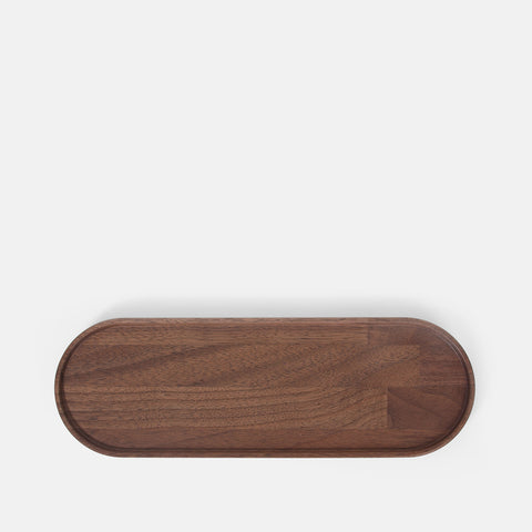 Long Oval Walnut Tray