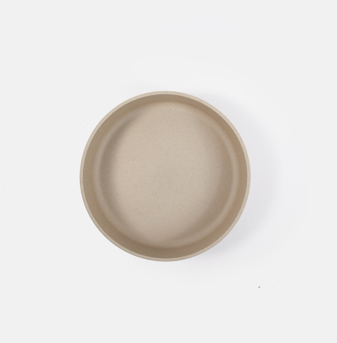 "8.5"" Cylinder Beige Serving Bowl"