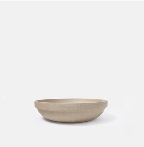 "8.5"" Round Beige Serving Bowl"