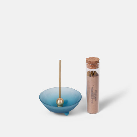 Blue Spike Bowl Incense Set