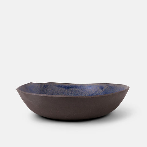 Golden Blue Large Bowl