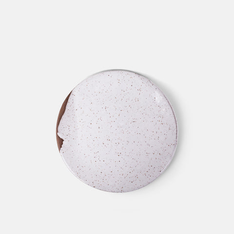 Speckled White Salad Plate
