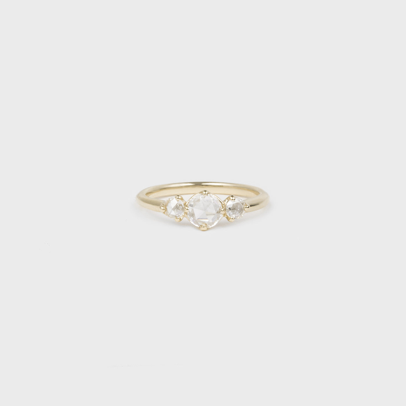 Three Rosecut Diamonds Ring