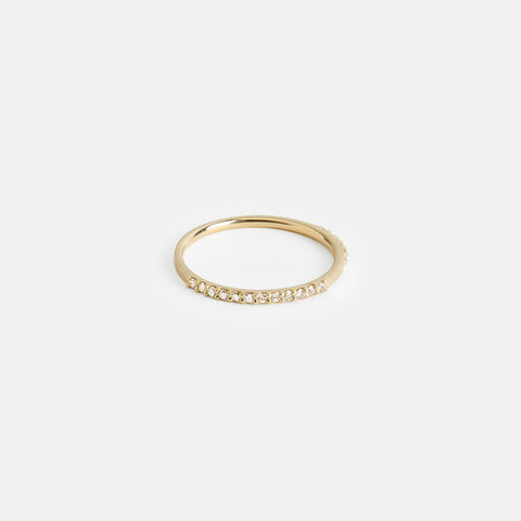 Row Ring in Gold