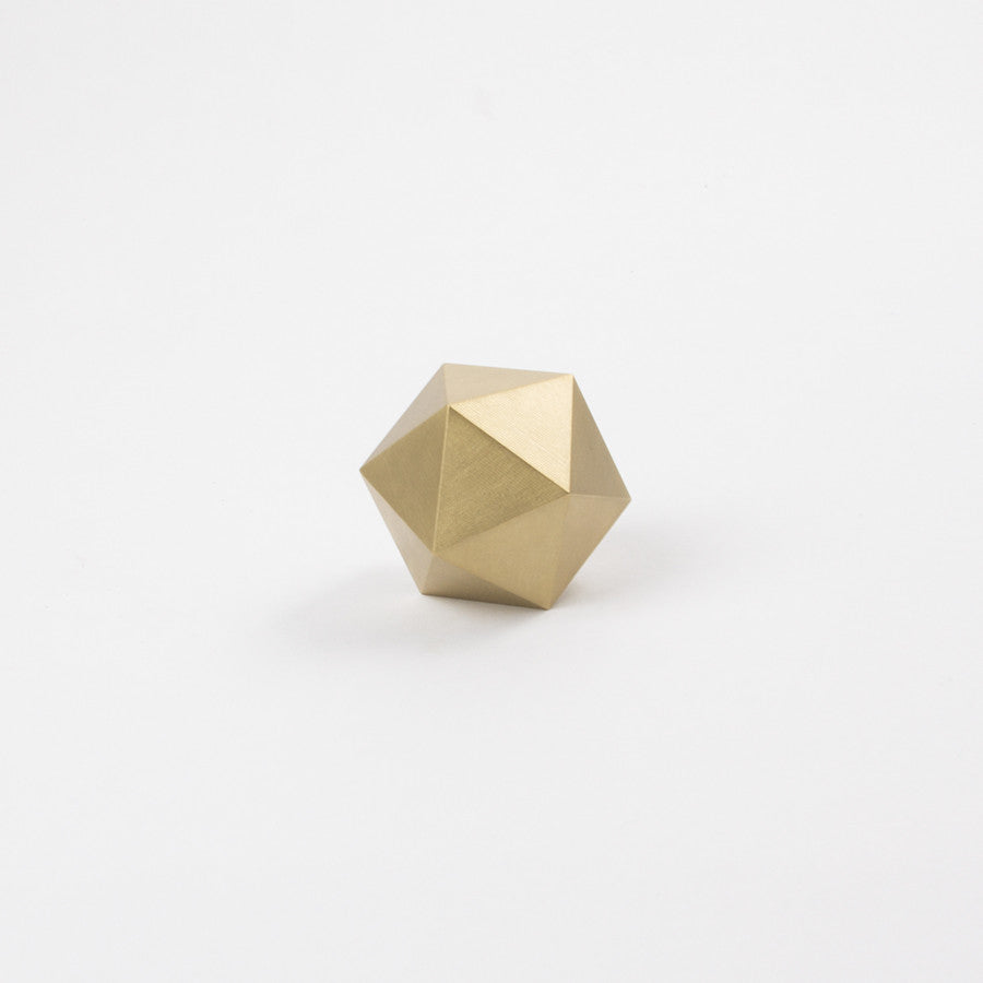 Icosahedron in Brass