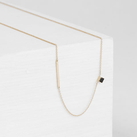 Inu Necklace with black diamond
