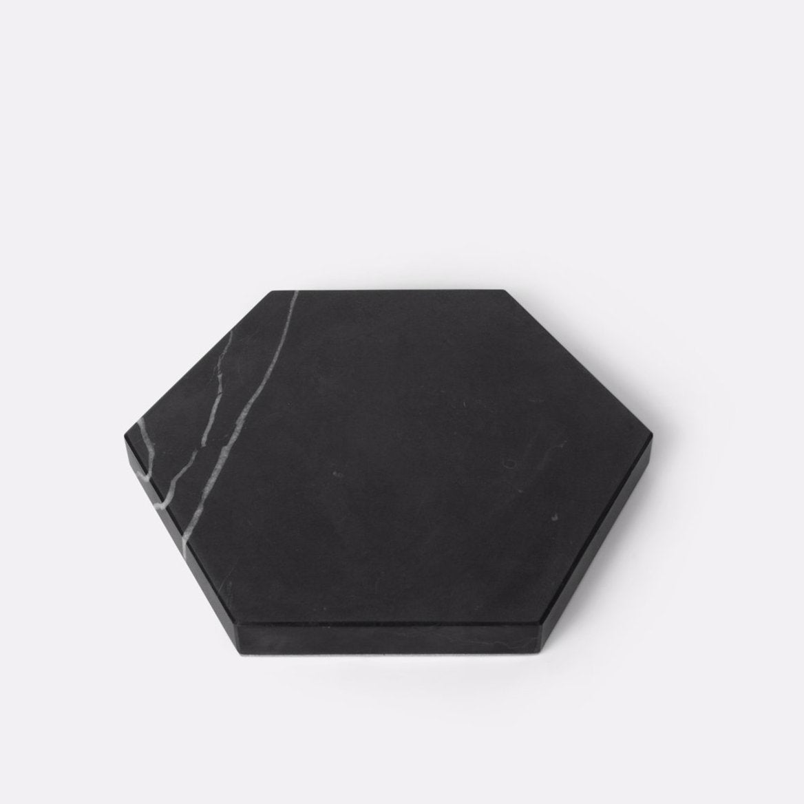 Black Hexagon Stone Trivet