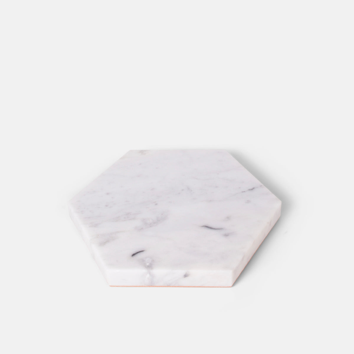 White Hexagon Stone Trivet