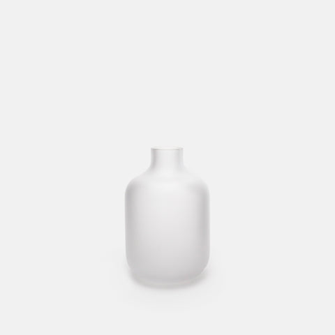 Frosted Clear Glass Bottle