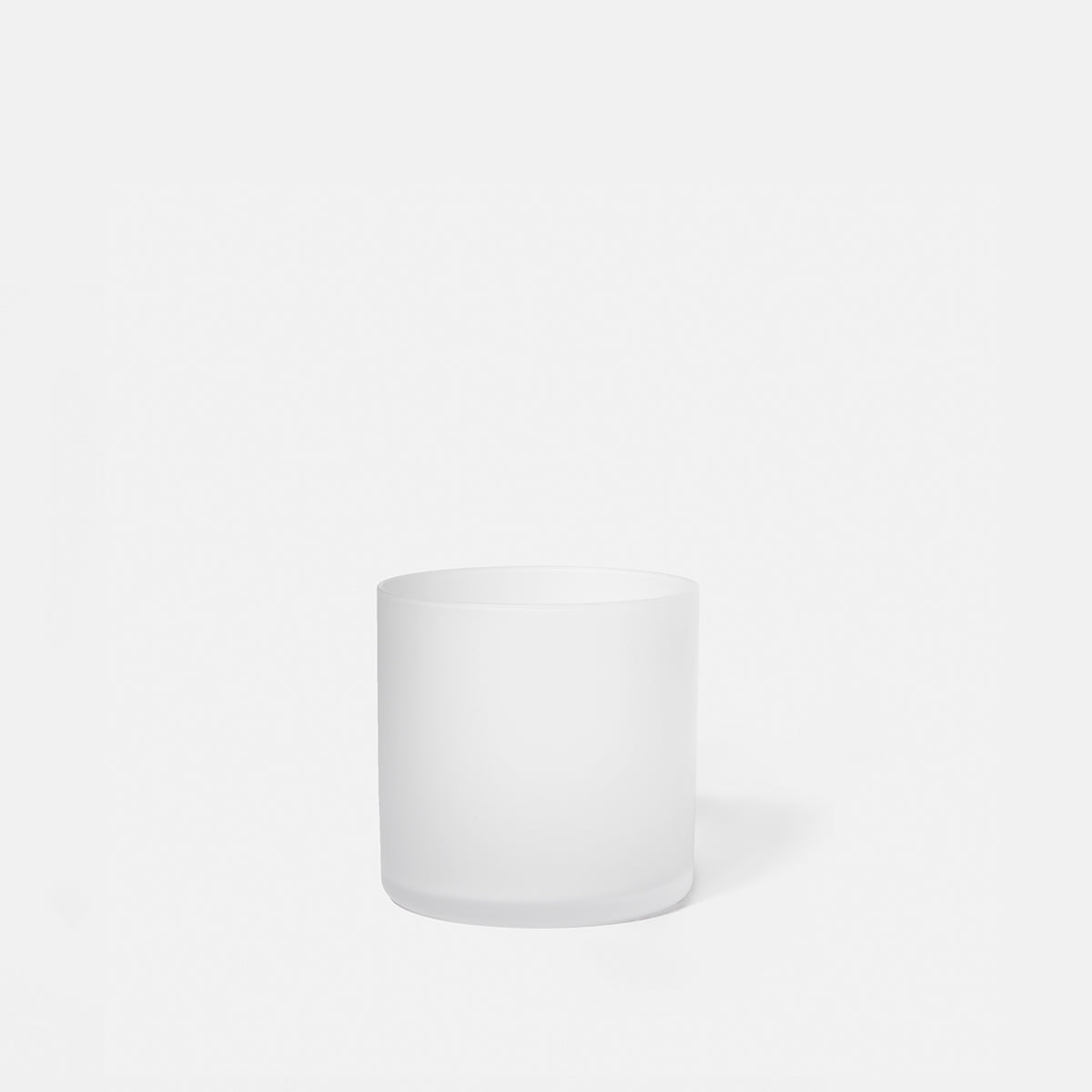 Frosted Clear Glass Cup