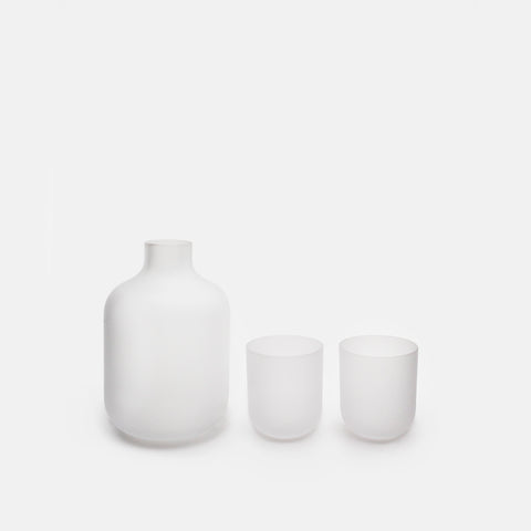 Frosted Clear Glass Sake Set