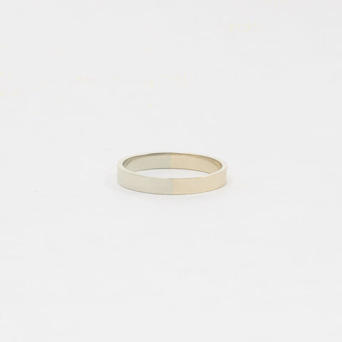 3mm Yellow and White Gold Band