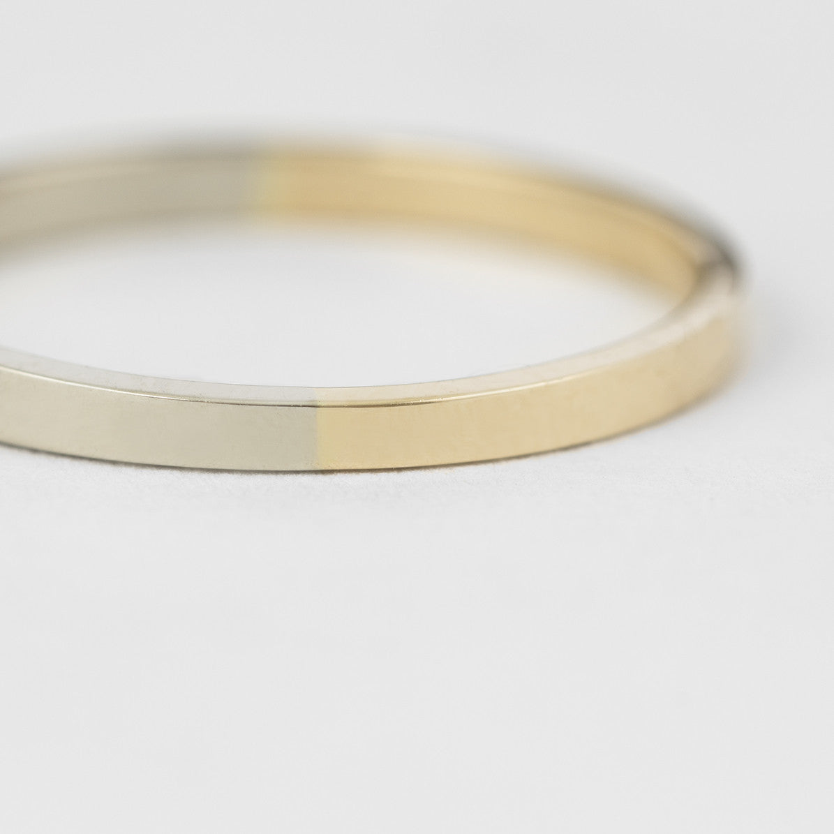 2mm Yellow and White Gold Band
