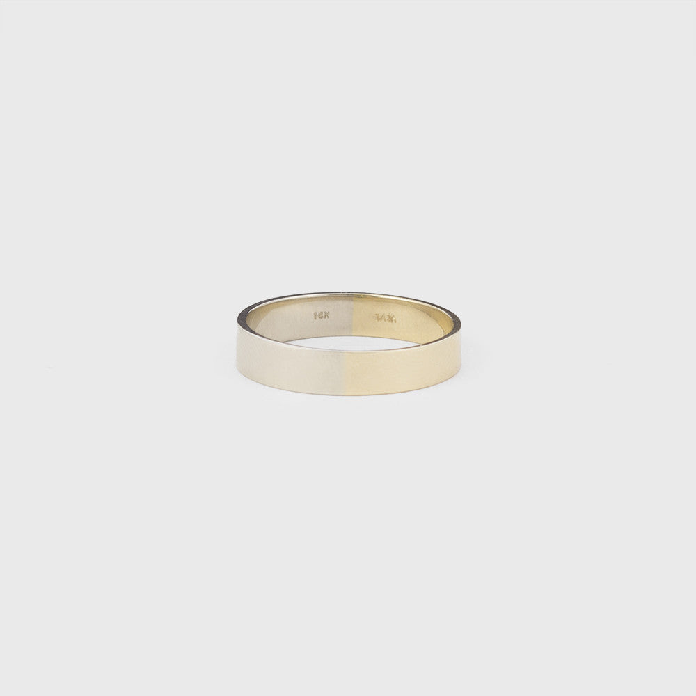 5mm Yellow and White Gold Band