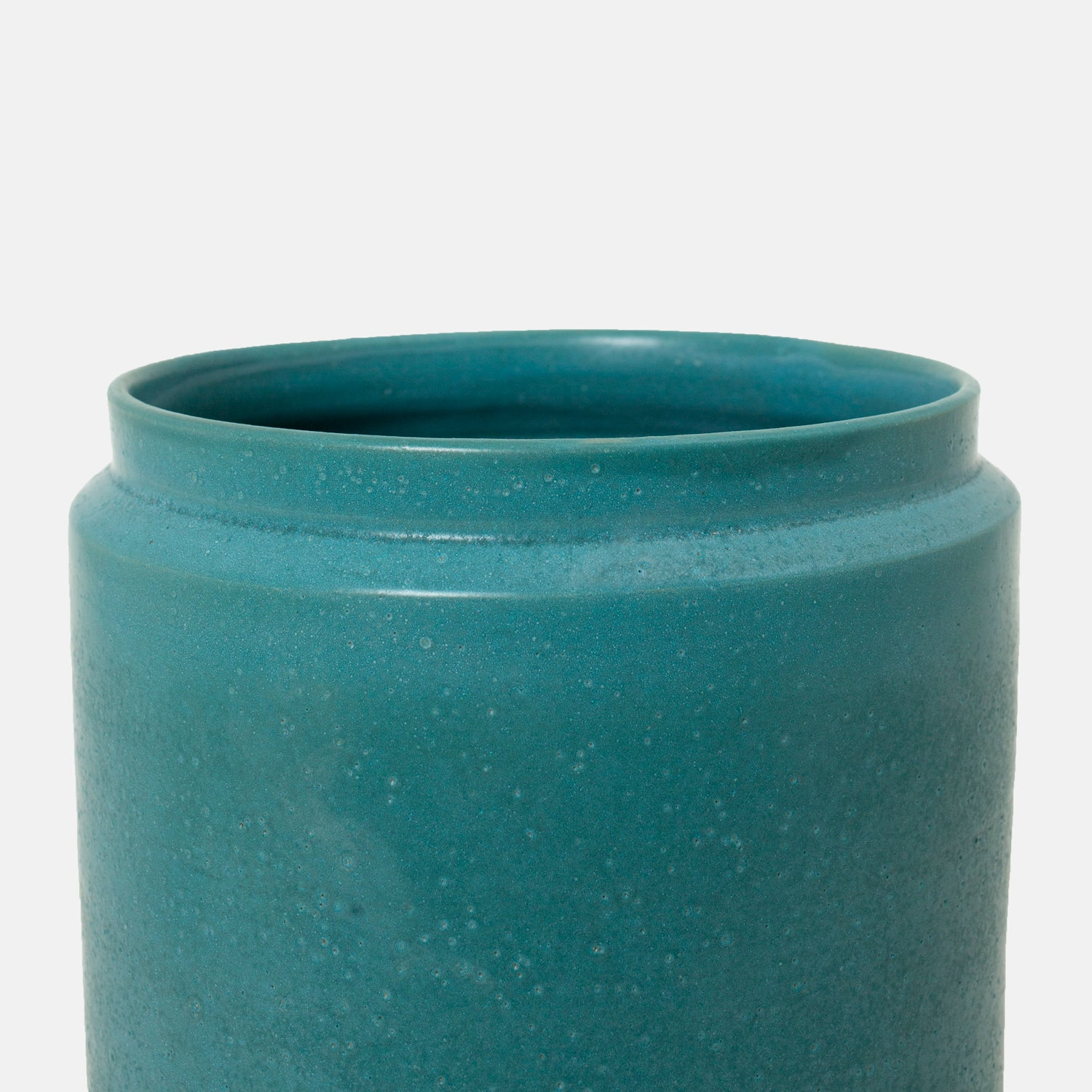 Large Tall Blue Jar